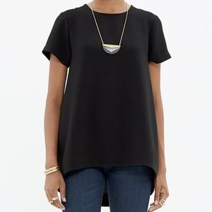 Madewell Tailored Tee In Black.